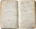 Autographs:Military Figures, Civil War Diary of Private Edwin McComb Covering the Final Days of the Civil War....