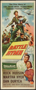 "Movie Posters:War, Battle Hymn (Universal International, 1957). Insert (14"" X 36"").War.. ..."