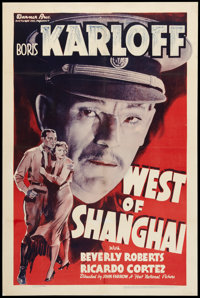 "West of Shanghai (Warner Brothers, 1937). One Sheet (27"" X 41""). Adventure"