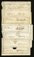 Colonial Notes:Connecticut, Hartford, CT- Comptroller's Office Various Denominations 1789-92Very Fine or Better... (Total: 6 notes)