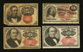 Fractional Currency:Fifth Issue, 10¢, 15¢, and 25¢ Denominations.. ... (Total: 4 notes)
