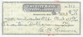 Baseball Collectibles:Others, 1950 Al Simmons Signed Check....