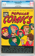 Platinum Age (1897-1937):Miscellaneous, Popular Comics #5 Lost Valley pedigree (Dell, 1936) CGC VG- 3.5Light tan to off-white pages....