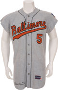 Baseball Collectibles:Uniforms, 1969 Brooks Robinson Game Worn Baltimore Orioles Jersey....