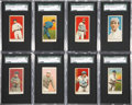 Baseball Cards:Sets, 1909 E92 Dockman Graded Partial Set (11) - With Both Honus Wagner Cards! ...