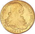 Colombia, Colombia: Colombia. Fernando VII 8 Escudos 1814JF. Bogota mint. CTmark of unknown silversmith....