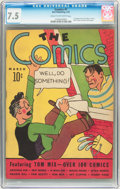 Platinum Age (1897-1937):Miscellaneous, The Comics #1 (Dell, 1937) CGC VF- 7.5 Cream to off-white pages....