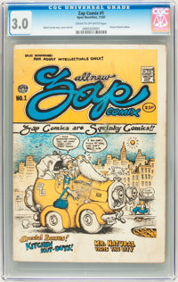 Zap Comix #1 (First Printing - Plymell) (Apex Novelties, 1967) CGC GD/VG 3.0 Cream to off-white pages