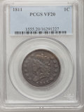 Large Cents: , 1811 1C VF20 PCGS. PCGS Population (10/60). NGC Census: (2/29).Mintage: 218,025. Numismedia Wsl. Price for problem free NG...