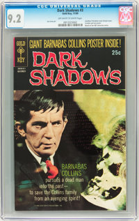 Dark Shadows #3 (Gold Key, 1969) CGC NM- 9.2 Off-white to white pages