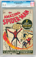 Silver Age (1956-1969):Superhero, The Amazing Spider-Man #1 (Marvel, 1963) CGC VF+ 8.5 Off-white towhite pages....