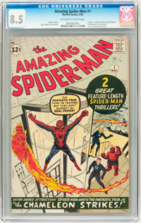 The Amazing Spider-Man #1 (Marvel, 1963) CGC VF+ 8.5 Off-white to white pages