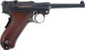"Military & Patriotic:WWI, DWM 1906 American Eagle Luger. Cal. .30 Luger. Serial Number 66396, 4¾"" Barrel...."