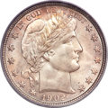 Barber Half Dollars, 1902-S 50C MS67+ PCGS Secure. CAC....