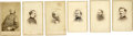 Military & Patriotic:Civil War, Sherman March to the Sea Commanders CDVs. ... (Total: 6 Items)