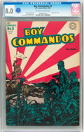 Golden Age (1938-1955):War, Boy Commandos #9 (DC, 1944) CGC VF 8.0 Off-white to white pages....
