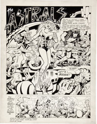 Jack Kirby and Bill Wray The Astrals page 1 Original Art (c. late 1970s)