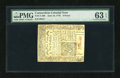Colonial Notes:Connecticut, Connecticut June 19, 1776 9d Uncanceled PMG Choice Uncirculated 63 EPQ....
