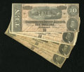 Confederate Notes:1864 Issues, T68 $10 1864 Four Examples.. . ... (Total: 4 notes)