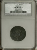 1723 1/2P Hibernia Halfpenny--Corroded--NCS. XF Details. NGC Census: (0/0). PCGS Population (24/247). (#180)...(PCGS# 18...