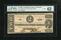 Confederate Notes:1862 Issues, T54 $2 1862.. . ...