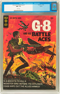 G-8 and his Battle Aces #1 Boston pedigree (Gold Key, 1966) CGC NM+ 9.6 White pages