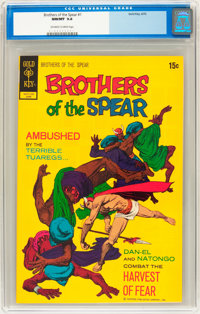 Brothers of the Spear #1 (Gold Key, 1972) CGC NM/MT 9.8 Off-white to white pages