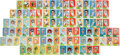 Football Cards:Lots, 1960 Fleer Football Uncut Strips Collection (17)....