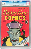 Golden Age (1938-1955):Adventure, Detective Comics #1 (DC, 1937) CGC VG+ 4.5 Cream to off-white pages....