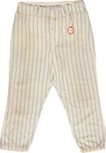 Baseball Collectibles:Uniforms, 1967 Mickey Mantle 500th Home Run Game Worn Pants....