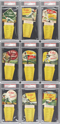 Baseball Cards:Sets, 1952 Coca-Cola Baseball Tips Complete Set (10) - #1 on the PSA SetRegistry! ...