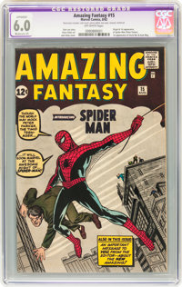 Amazing Fantasy #15 (Marvel, 1962) CGC Apparent FN 6.0 Moderate (P) Off-white pages