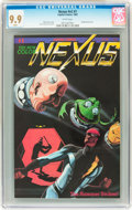 Modern Age (1980-Present):Superhero, NEXUS V2#1 (Capitol, 1983) CGC MT 9.9 White pages....