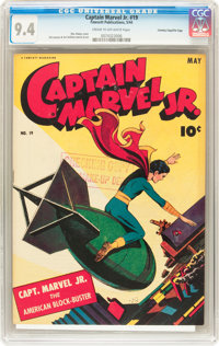 Captain Marvel Jr. #19 Crowley Copy/File Copy (Fawcett, 1944) CGC NM 9.4 Cream to off-white pages
