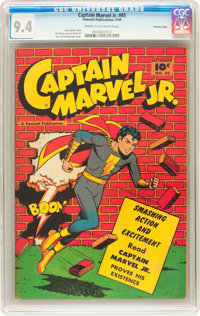Captain Marvel Jr. #65 Crowley Copy (Fawcett, 1948) CGC NM 9.4 Cream to off-white pages