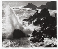 ANSEL EASTON ADAMS (American, 1902-1984) Storm, Surf, and Rocks - Timber Cover California, circa 1960
