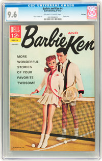 Barbie and Ken #4 File Copy (Dell, 1963) CGC NM+ 9.6 Off-white to white pages