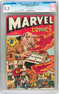 Golden Age (1938-1955):Superhero, Marvel Mystery Comics #81 (Timely, 1947) CGC VF+ 8.5 Cream to off-white pages....
