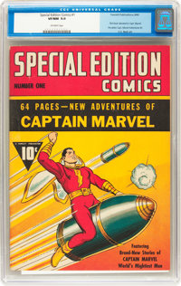 Special Edition Comics #1 (Fawcett, 1940) CGC VF/NM 9.0 Off-white pages