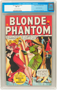 Blonde Phantom #16 (Timely, 1947) CGC NM 9.4 Cream to off-white pages