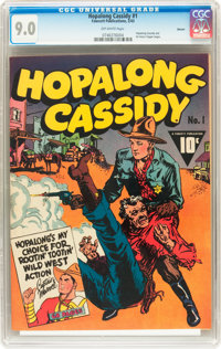 Hopalong Cassidy #1 Denver pedigree (Fawcett, 1943) CGC VF/NM 9.0 Off-white pages