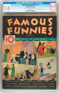 Platinum Age (1897-1937):Miscellaneous, Famous Funnies Series 1 #1 (Eastern Color, 1934) CGC FR 1.0 Light tan to off-white pages....