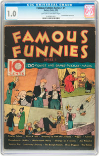 Famous Funnies Series 1 #1 (Eastern Color, 1934) CGC FR 1.0 Light tan to off-white pages