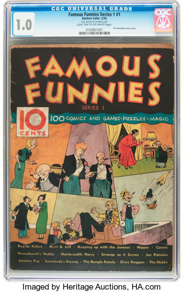 Famous Funnies Series 1 #1 (Eastern Color, 1934) CGC FR 1 0 Light