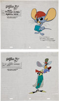 Animation Art:Production Cel, The New Adventures of Mighty Mouse Model Sheet Original andScript Group (Ralph Bakshi Productions, 1987).... (Total: 8 Items)