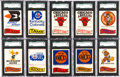 Basketball Cards:Lots, 1973-74 Topps Team Stickers (350 cards+). ...