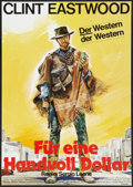 """Movie Posters:Western, A Fistful of Dollars (United Artists, R-1978). German A1 (23.25"""" X 33""""). Western.. ..."""