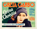"Movie Posters:Drama, Anna Christie (MGM, 1930). Title Lobby Card (11"" X 14"").. ..."