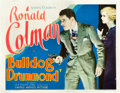 "Movie Posters:Adventure, Bulldog Drummond (United Artists, 1929). Title Lobby Card (11"" X14"").. ..."
