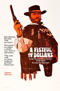 "A Fistful of Dollars (United Artists, 1967). One Sheet (27"" X 41"") Teaser Style A"